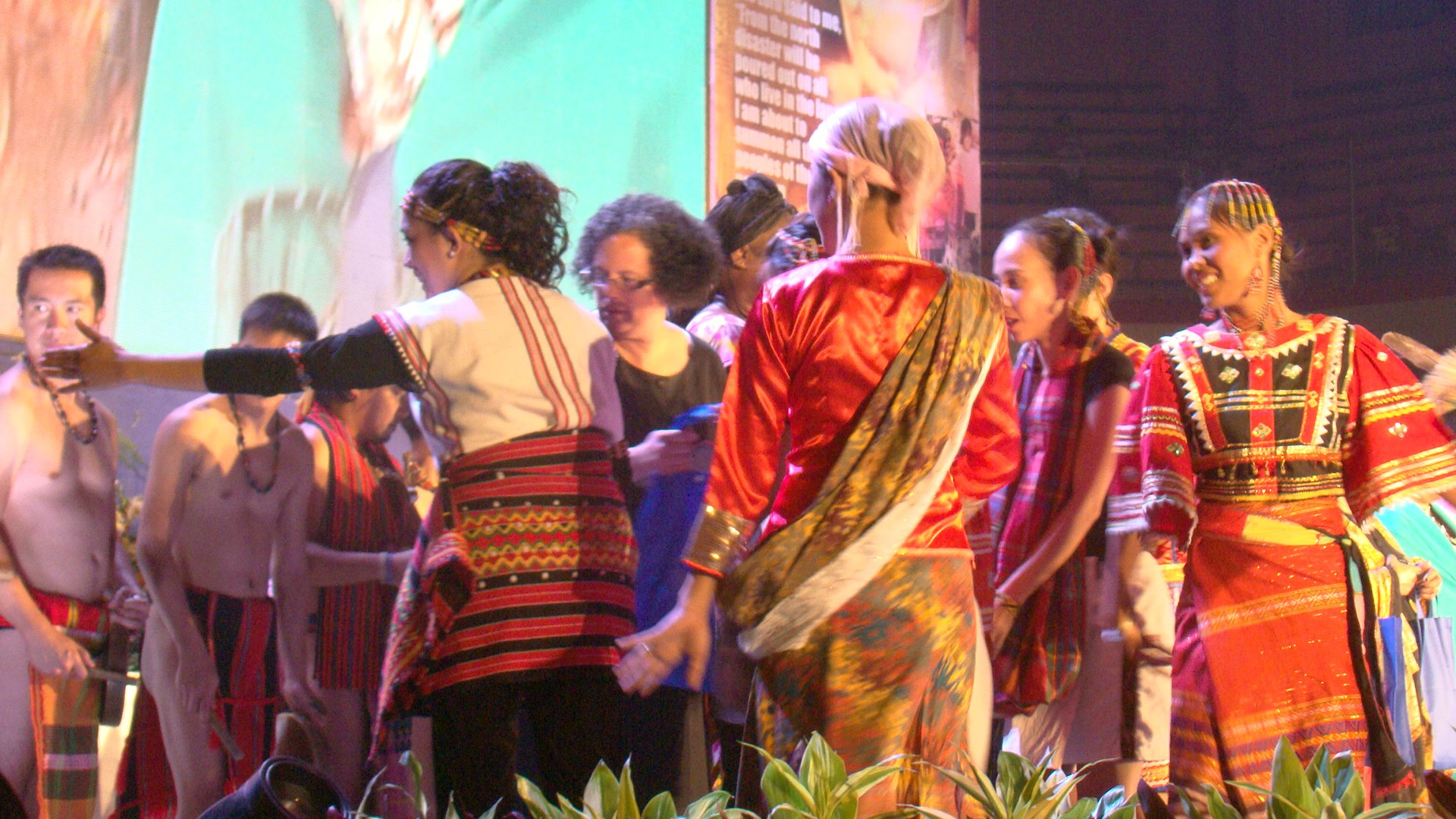 The presentation of the Gifts from the Tribal peoples of Mindanao.