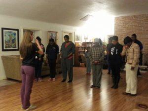 The women opening up in Prayer!
