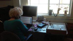 Mother Jennene, hard at work!